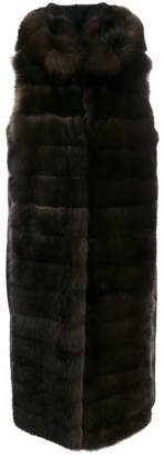 Liska Malottika long fur coat