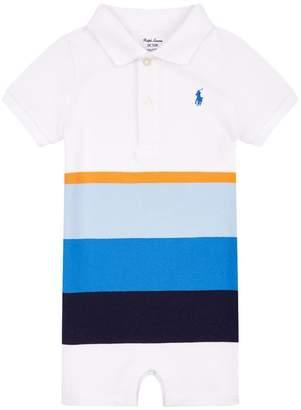 Polo Ralph Lauren Stripe Polo Neck Playsuit