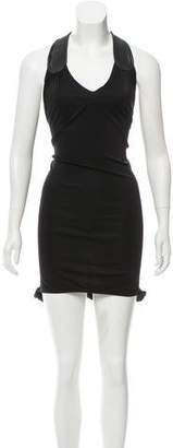 Mara Hoffman Silk Leather-Accented Dress