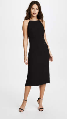 Brandon Maxwell Backless Dress with Ribbed Trim