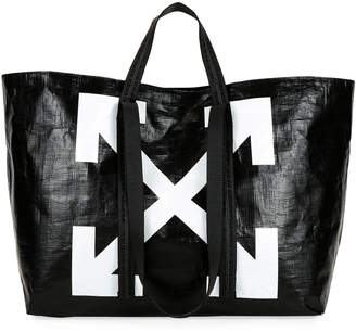 Off-White Off White New Commercial Tote Bag, Black/White