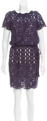 Lanvin Lace Shift Dress Blue Lace Shift Dress