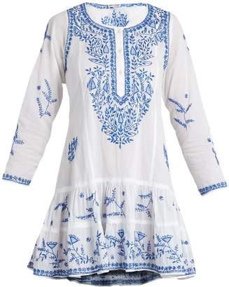 JULIET DUNN Round-neck embroidered cotton-voile dress $229 thestylecure.com