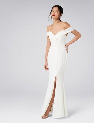 Forever New Sara Off-Shoulder Gown - Porcelain - 4