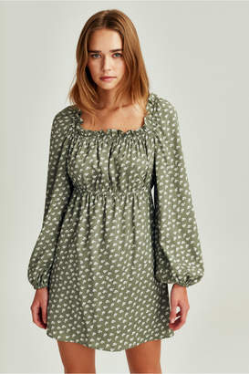 The Fifth KALEIDOSCOPE LONG SLEEVE DRESS sage w ivory floral