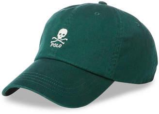 Polo Ralph Lauren Men's Embroidered Skull Baseball Cap