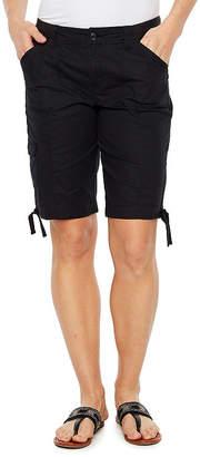 ST. JOHN'S BAY 9 1/2 Woven Cargo Shorts - Petite