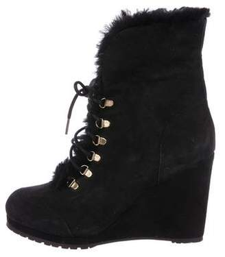 LK Bennett Suede Wedge Ankle Boots