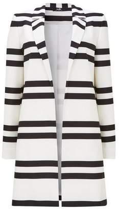Wallis Monochrome Striped Longline Blazer