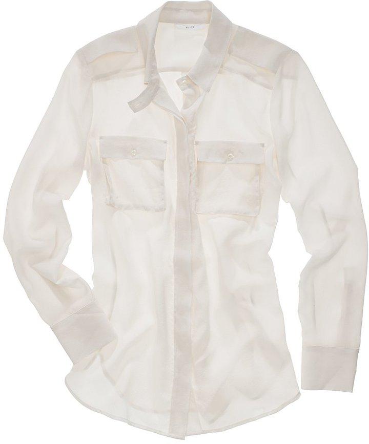 Silk cargo shirt