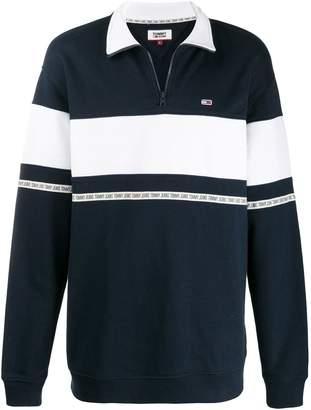 Tommy Jeans stripe panel polo jumper