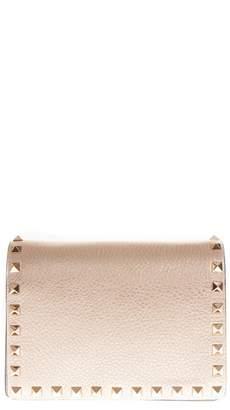 Valentino Rockstud Nude Leather Shoulder Bag