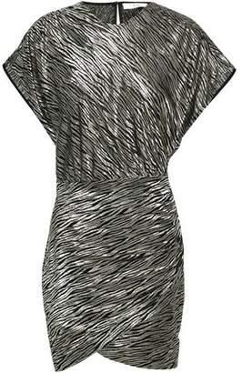 IRO Metallic Silk-blend Jacquard Mini Dress