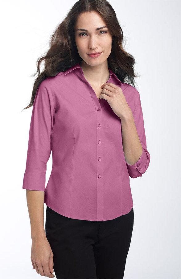 Foxcroft Button Front Shirt (Petite)