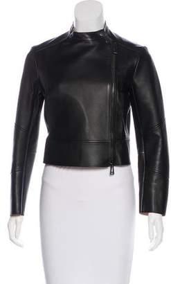 Belstaff Cropped Leather Jacket