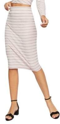 BCBGeneration Pinstriped Pencil Skirt