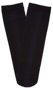 Falke Fishnet Mesh Knee High Socks - Womens - Black