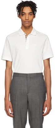 Burberry White Core Polo