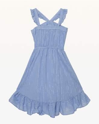 Juicy Couture Metallic Stripe Midi Dress for Girls