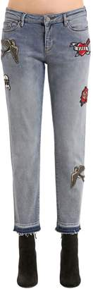 Karl Lagerfeld Captain Patch Straight Denim Jeans
