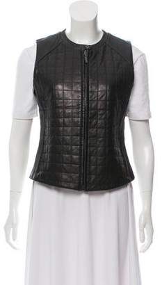 Siena Studio Quilted Leather Vest