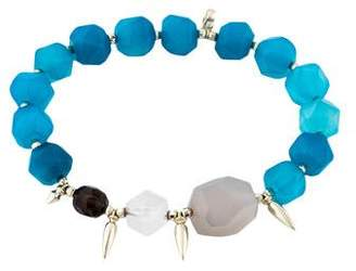 Kendra Scott Quartz, Dyed Chalcedony & Smoky Quartz Sadie Stretch Bracelet