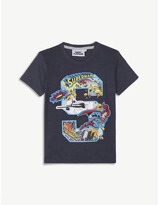 Fabric flavours Superman appliqué cotton-blend T-shirt 3-10 years