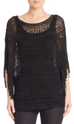 Polo Ralph Lauren Fringed Boatneck Poncho $345 thestylecure.com