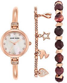 Anne KleinAnne Klein Women's Rosetone Watch and BraceletSet
