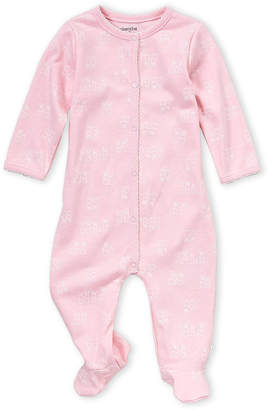 Absorba Newborn Girls) Pink Bunny Print Footie
