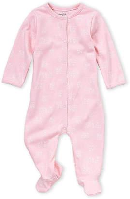 Absorba Newborn Girls) Pink Bunny Print Footie