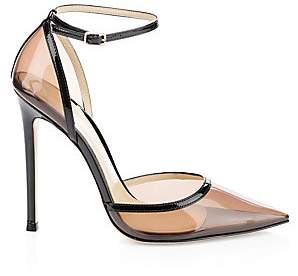 Gianvito Rossi Women's Clear Point-Toe Ankle-Strap Pumps