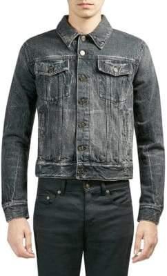 Saint Laurent Denim Buttoned Cotton Jacket