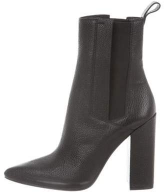 Calvin Klein Leather Ankle Boots Black Leather Ankle Boots