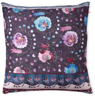 Magaschoni Purple Floral Decorative Pillow