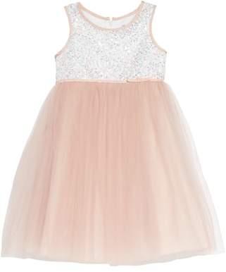 Dorissa Sequin Bodice Tulle Dress