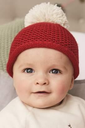 Next Red Pom Hat (0mths-2yrs) - Red