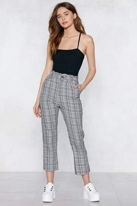 Nasty Gal By My Side Plaid Pants