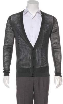 Prada Open Knit Silk Cardigan