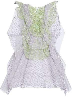 DELPOZO Embellished Linen-Mesh Fil Coupé Mini Dress