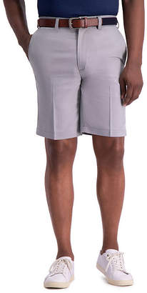 Haggar Cool 18 Pro Mens Stretch Moisture Wicking Chino Short-Big and Tall