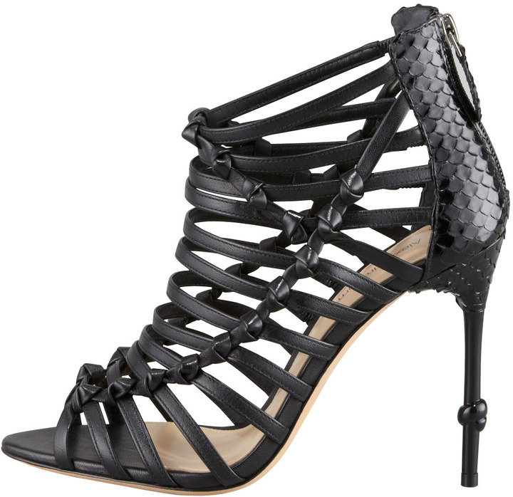 Alexandre Birman Strappy Knotted Cage Sandal