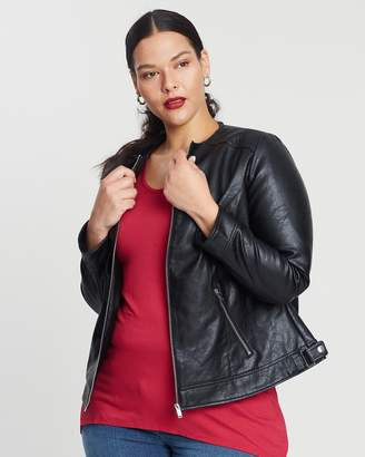 PU Quilt Curles Jacket