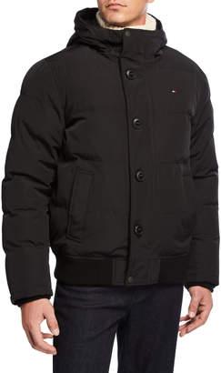 Modern American Designer Men's Short-Snorkel Hooded Jacket
