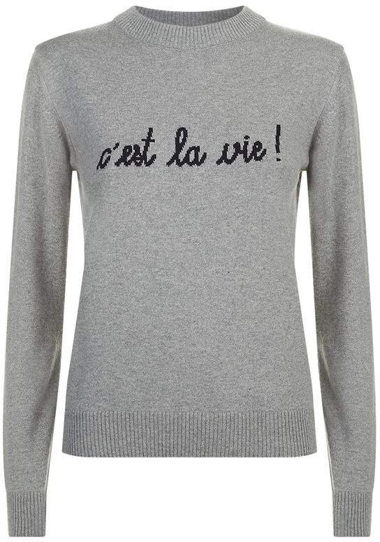 Maison Labiche C'est La Vie Slogan Sweater