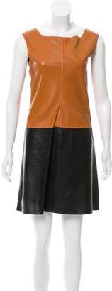 Hache Leather Mini Dress w/ Tags