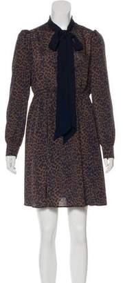 Tara Jarmon Leopard Print A-Line Dress