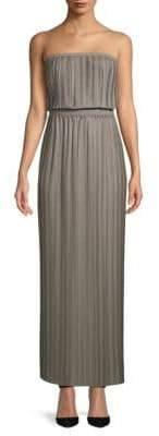 BCBGMAXAZRIA Strapless Pleated Maxi Dress