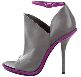 Balenciaga Peep-Toe High-Heel Pumps