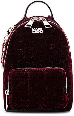 Karl Lagerfeld X KAIA Velvet Mini Backpack